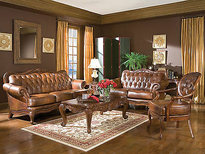ALEXANDER TRADITIONAL LIVING Room Couch Set - NEW Brown ...