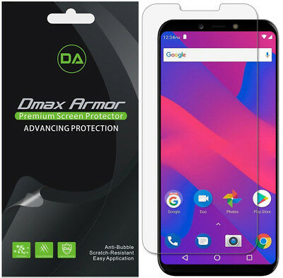 [6-PACK] DMAX ARMOR HD Clear Screen Protector shield for BLU Studio Mega  (2018)