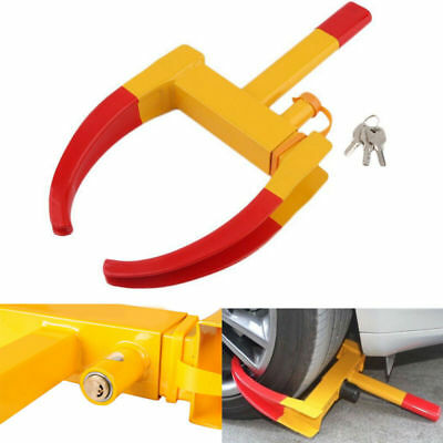 Security Heavy Duty Wheel Clamp 3 Key Anti-Theft Lock For Trailer Caravan Car UK