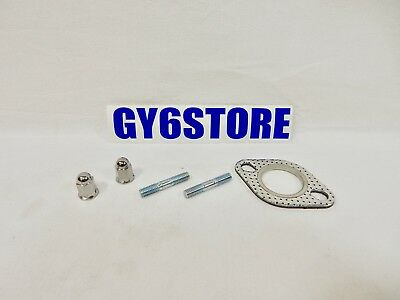 NCY PREMIUM 6mm EXHAUST STUD AND GASKET KIT FOR 50cc QMB139 & 150cc GY6