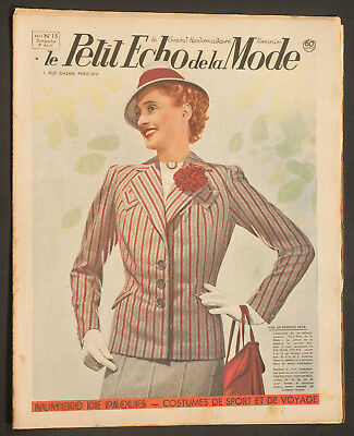 'echo De La Mode' French Vintage Newspaper Easter Issue 9 April 1939
