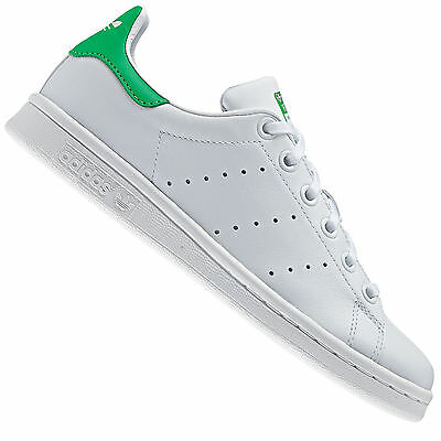 best website 78a6d 272a7 Adidas Originals Stan Smith J Sneaker Donna M20605 Bianco Green