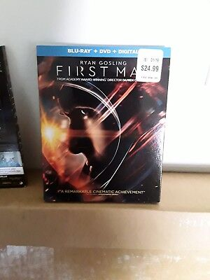 First Man (Ryan Gosling) Blu-Ray + DVD + Digital HD W/SLIP COVER - FREE SHIPPING