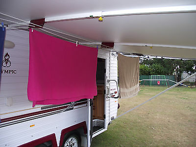 Caravan Clothesline for roll out awning