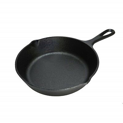 """Cast Iron Mini Skillet Eggs Cooking Seasoning Camping Pan Cook Frying Small 6.5"""""""