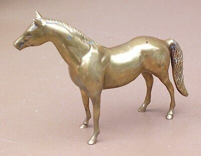 Cheval laiton figurine statuette animal horse brass déco collection animalière