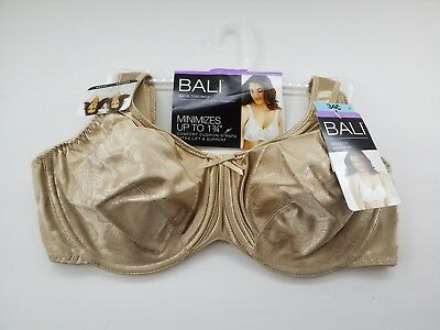 better variousstyles look for BALI WOMEN'S SATIN Tracings Minimizer Underwire Bra, Multi Sizes Nude 3562  NWTs