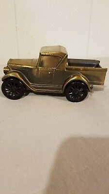 Banthrico 1974 Car Coin Bank Bronze Finish 1928 Chevrolet Pickup Truck