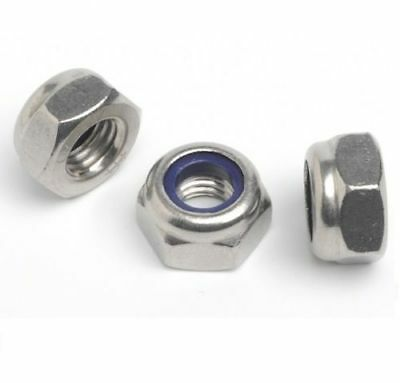 "Unf 1/4"", 5/16"", 3/8"", 1/2"", 5/8"" A2 Stainless Steel Nyloc Insert Imperial Nuts"