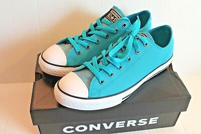 NEW Girls Youth CONVERSE 645432F Shoreline Teal No Time To Lace Sneakers Shoes