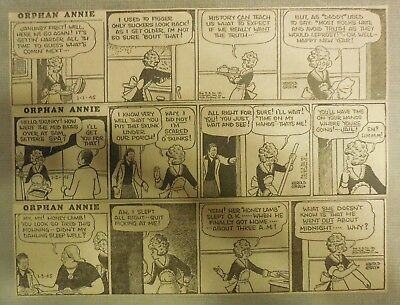 """(308) """"Little Orphan Annie"""" Dailies by H. Gray from 1-12,1945  2.5 x 10 inches"""