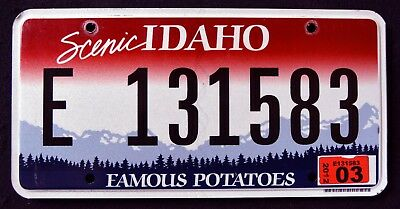 """IDAHO """" FAMOUS POTATOES - SCENIC - MOUNTAINS """" ID Graphic License Plate"""