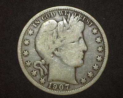 1907-D Barber Half-Dollar Very Good Plus    10~393442-Lb615Ra