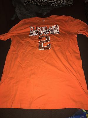 59aedfd44 Johnny Manziel Shirt Cleveland Browns Youth Player Tee NFL Football  Official NWT