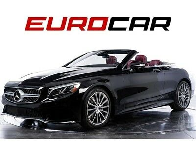 2017 Mercedes-Benz S-Class S550 Cabriolet MERCEDES S 550 CABRIOLET, STUNNING RED INTERIOR, HIGHLY OPTIONED!!