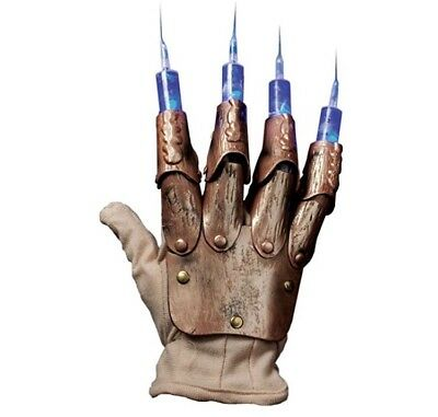 Freddy Krueger's Light Up Syringe Glove Costume Cosplay Horror Prop Halloween