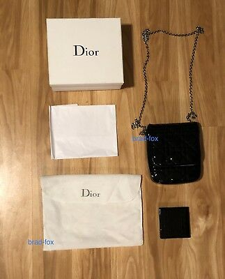 47291a4d1539 RARE Authentic Christian Dior Flap Mini Chain Handbag Quilted Black Vintage