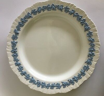 Wedgwood Lavender on Cream Queen's Ware Chop Plate Platter 12 3/4""