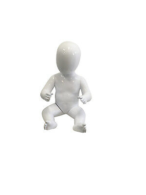 BABY MANNEQUIN - Seated gloss white