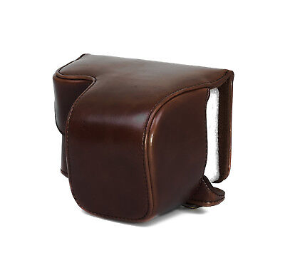 Camera Case Case for Sony Nex A6000 short Faux Leather Bag Coffee CC1302c