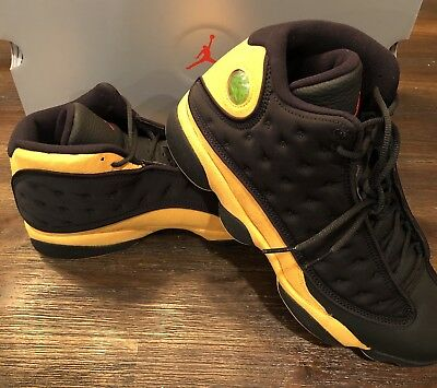 6ad1d974f19e82 Nike Air Jordan 13 XIII Retro Melo Black Yellow Red Class of 2002 SIZE 12