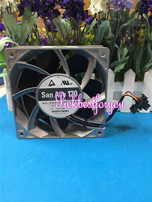 Sanyo 9SX1212P1K005 12V 4.4A high temperature aluminum frame fan #M536B QL