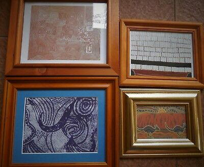 Framed Aboriginal  Artwork, Circle Of Life & 3 Aboriginal Framed Prints