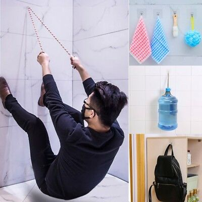 1X(Strong Transparent Suction Cup Sucker Wall Hooks Hanger for Kitchen BathE3X6)
