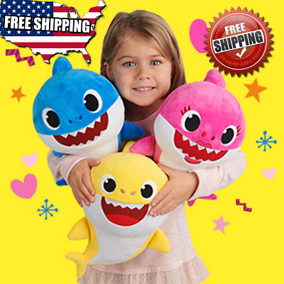 Baby Shark Plush Singing Plush Toys Music Doll English Song for Christmas Gift..