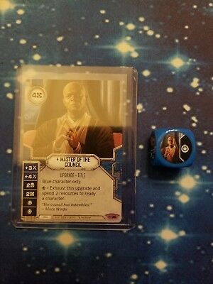 Star Wars Destiny #036 Master of the Council Empire at War Dice blue