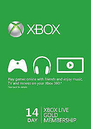 Xbox Live 14 Days 2 Weeks Trial Membership Code Xbox 360/One (Region Free)