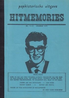 Magazine Hitmemories December 1978 -Sam Cooke/Freddy Cannon/Johnny & Hurricanees