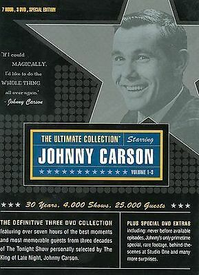 NEW Johnny Carson: The Ultimate Collection (DVD, 2003, 3-Disc Set) Sealed B209