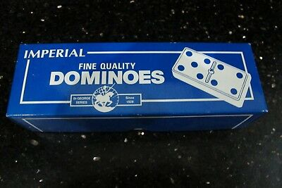Dominoes - Club Dominoes Set in a Box - Jaques of Lo TRAVEL SET  IMPERIAL  FULL