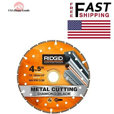 "Cutoff Blade Arbor DM 7//8/""-5//8/"" MTL70 RIDGID 7/"" Metal Cutting Diamond Circular"