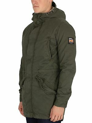 outlet store c1e96 861ae SUPERDRY HERREN NEUE Military Parka Jacke, Grün