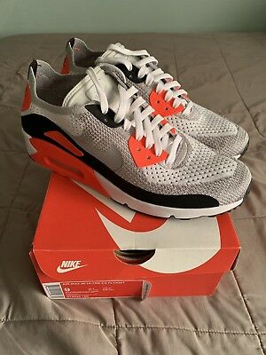 454648a1c8545 NIKE AIR MAX 90 Ultra 2.0 Flyknit Infrared 875943-100 Size 9 ...