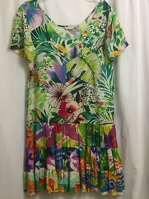 9a9bd26a JAMS WORLD Hattie Casual Rayon Dress Small Sz Style W329-JUSP Jungle Splash  NWOT