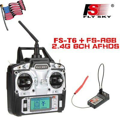 FLYSKY FS T6 FS-R6B 2.4Ghz 6CH Receiver for RC Helicopter Airplane Glider NEW