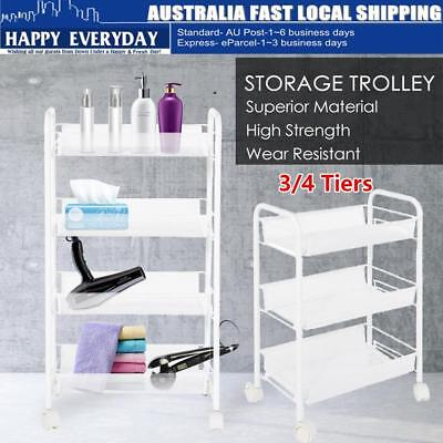 3/4 Tiers Salon Hairdresser Barber Beauty Storage Trolley Hair Drawers Cart Spa