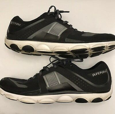 ecbebb88f78 Brooks Pureflow 4 Mens Black Gray White Size 12 Running Shoes