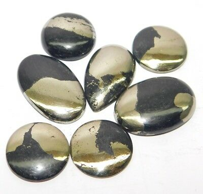 Apache Gold Round Natural Cabochon Loose Gemstone Lot 161Ct. 7Pcs SA28776
