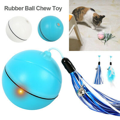 Automatique rotation PET Cat Dog Chaser ball Toys USB Port lumière interactive
