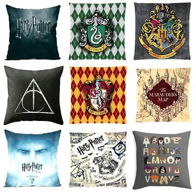 Harry Potter College Throw Pillow Case Cushion Cover  Cotton Linen Home Decor