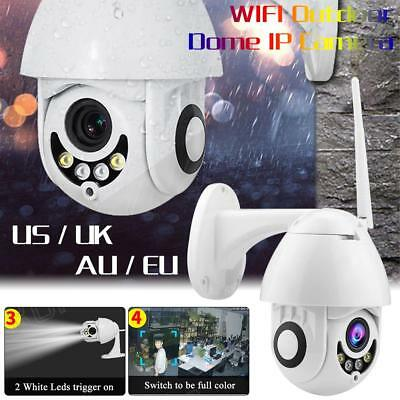 Outdoor Wireless 1080P IP Camer 5x Optical Zoom PTZ WiFi Waterproof Dome Webcam