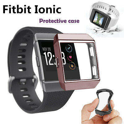 TPU Silicone Screen Protector Protective Case Cover For Fitbit Ionic Smart Watch