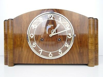 JUNGHANS Antique German WW2 Mantel 1936 Clock Art Deco (Kienzle Hermle era)