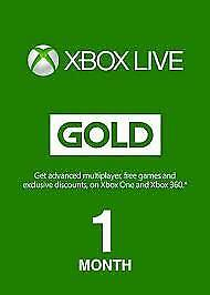 Xbox Live 1 month (2 x 14 day) Membership Code Xbox 360/One (Region Free)