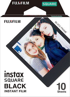 Fujifilm Instax SQUARE Film Sheets Black For Fuji SQ10 Instant Camera SQ6 SP-3