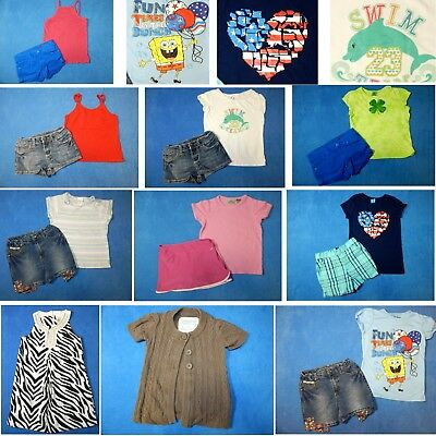 15 piece lot of nice clean girls Spring Summer clothing size 6/6X Everyday 3s2